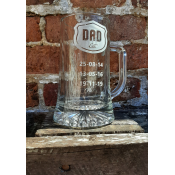 Dad Established Glass Tankard feature image