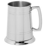 1pt Glass Bottom Pewter Tankard feature image