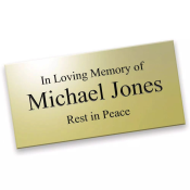 Brass plaque with engraving feature image