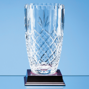 Lead Crystal Panelled Barrel Vase feature image