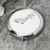Sparkly shoe compact mirror feature image