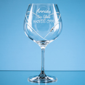 Gin glass with heart, diamante detail feature image