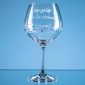 Gin Glass with Diamante detail feature image